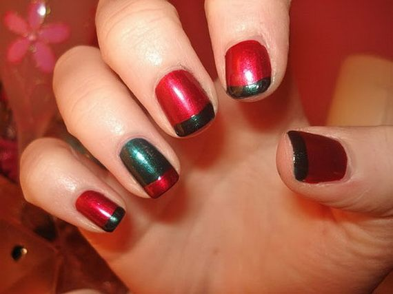 10 simple and easy christmas nail designs for beginners & learners.