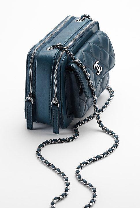 Small aged calfskin flap bag embellished... - CHANEL