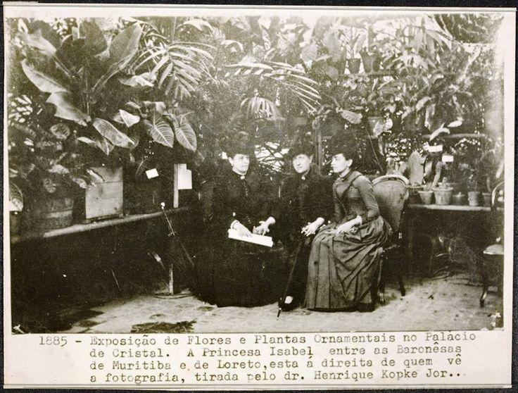 As amigas inseparáveis. Baronesa de Muritiba (filha do Visconde de Ubá), Dona Princesa Isabel e Baronesa de Loreto.