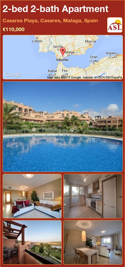 2-bed 2-bath Apartment in Casares Playa, Casares, Malaga, Spain ►€110,000 #PropertyForSaleInSpain
