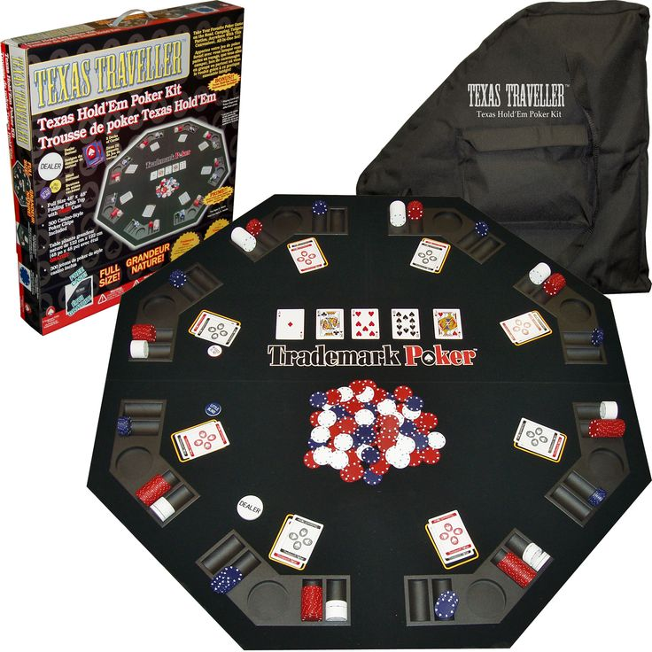<br><li>Take your favorite poker game anywhere you can imagine with this convenient all-in-one set<li>Poker table features built-in cup-holders and chip organizers