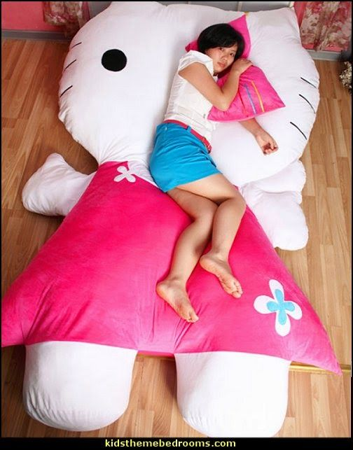Huge Comfortable Hello Kitty Cute Cat Soft Cartoon Bed Sleeping Bag