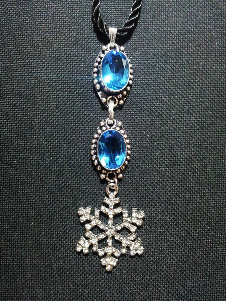 Blue Topaz Snowflake Necklace + Free Shipping Worldwide,  Topaz Jewelry, Snowflake jewelry, Snowflake Blue Topaz Necklace by OurArtyCreations on Etsy