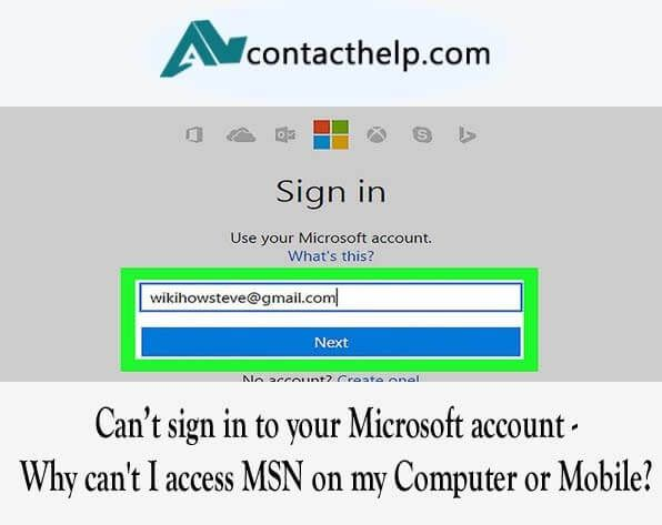 Msn mail signin