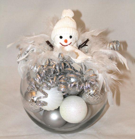 Winter wonderland christmas centerpiece holiday