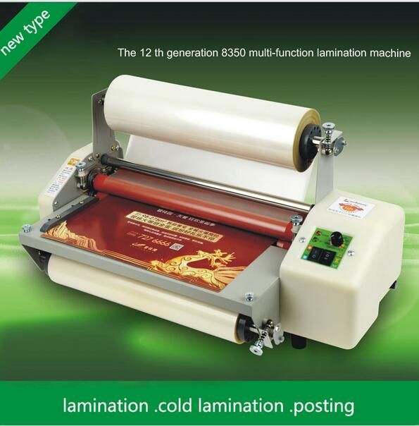 New Generation 8350t Laminator A3 Four Rollers Laminator Hot Roll Laminating Machine High End Speed Regulation 1pc Generation Roller Machine