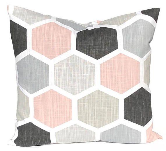 Geometric Pillow Covers  Decorative Pillow Covers  Blush