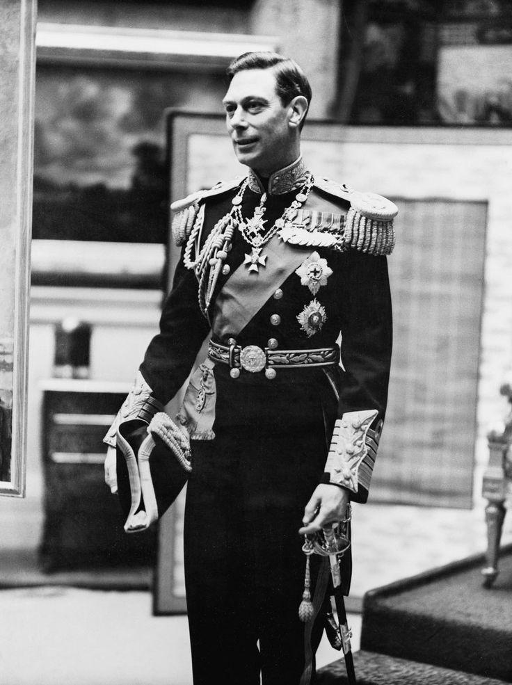 King George VI wearing his naval uniform. 1937.