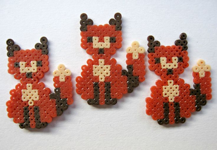 Hama Perler Bead Foxes by EtsyPelemele on deviantART