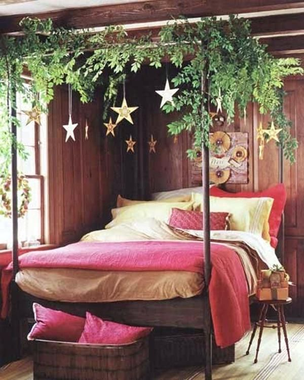 diy bohemian bed canopy romantic luxurious bedroom ...