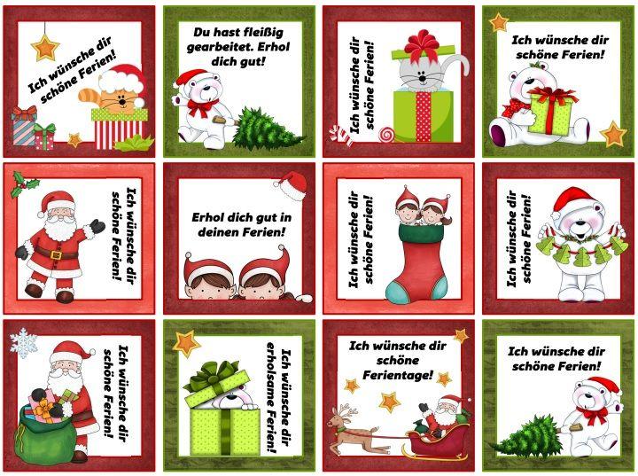 Ideenreise: Grußkärtchen für die Weihnachtsferien