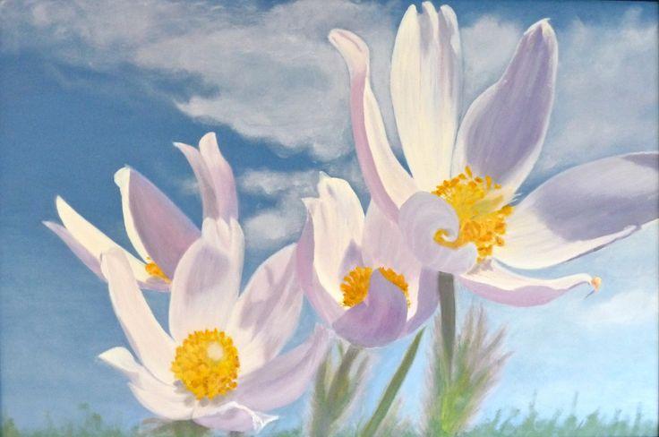 Spring Splendour original oil by Karen Tomlinson Calgary Alberta.