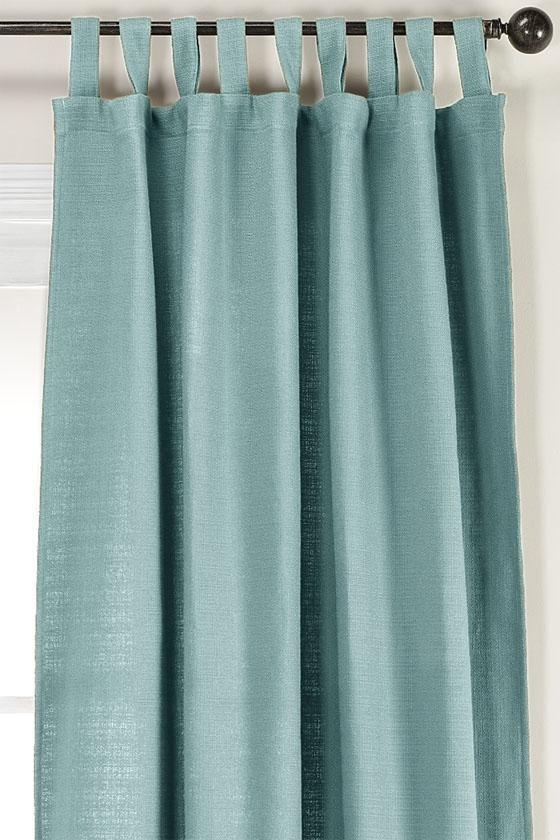 Side Window Panel Curtain Teal and Beige Walls