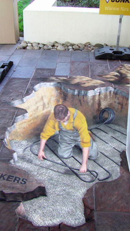 3D Straßenmalerwerbung - Manfred Stader