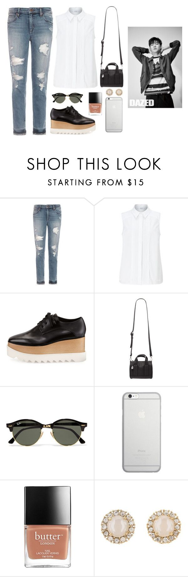 """""""Visiting Japan with JB"""" by got7outfits ❤ liked on Polyvore featuring Joe's Jeans, John Lewis, STELLA McCARTNEY, Forever 21, Ray-Ban, Native Union and Kate Spade"""