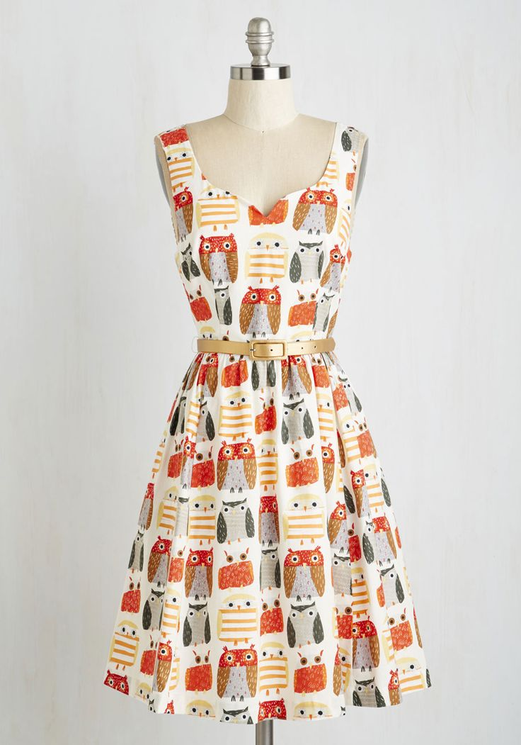 Quirk Things Out Dress. Youve got problem-solving down to a science, so when you need a cute frock fast, this printed dress is the answer! #multi #modcloth