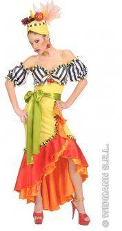 Rio Miranda Carnival Adult Fancy Dress Costume [BJ07229Z] : Karnival Costumes