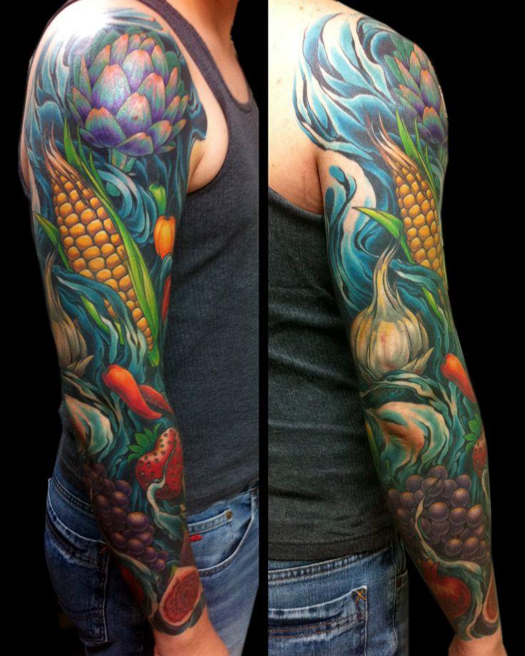 Vegetable Tattoo Sleeves