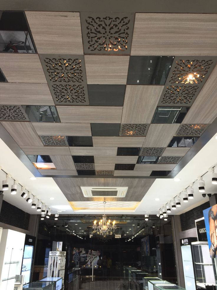 False ceiling at watch showroom at Jaipur designed by arpan design
