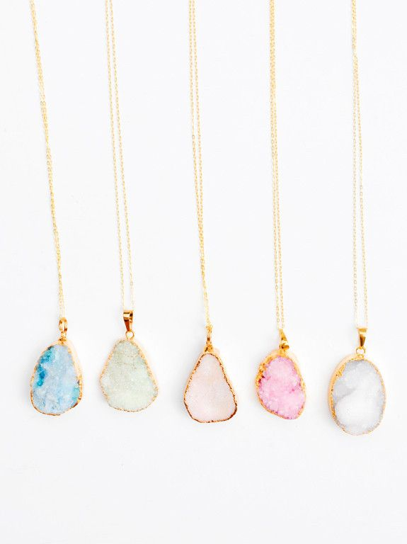 candy colored drusy necklaces // new!