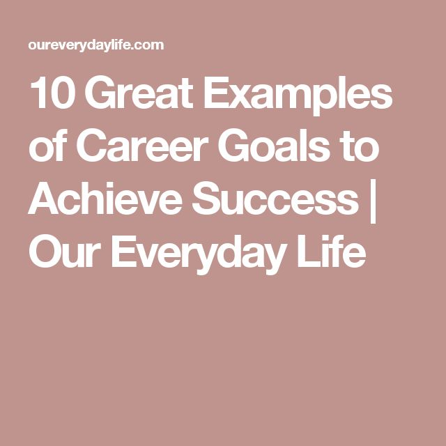 The 25+ best Career goals examples ideas on Pinterest Year - example of a personal development plan sample