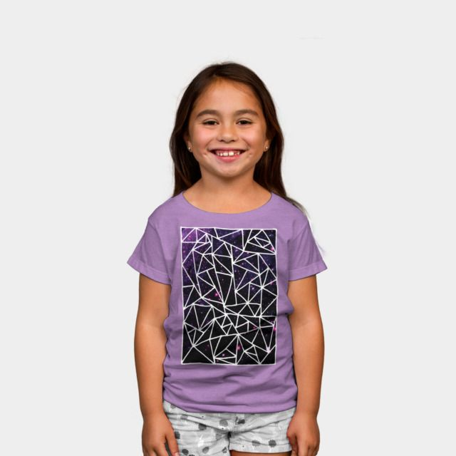 Nostromo Kids Tee by Fimbis available as a T Shirt, Phone Case, Tank Top, Crew Neck, Pullover, Zip.  #fashion #abstract #purple #pink #shapes #magenta #geometric #kidsfashion #children