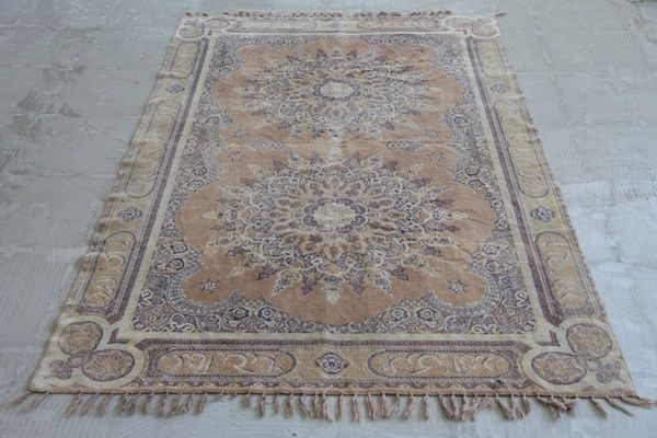 Gorgeous Faded To Perfection Old Prayer Rug...Shabby And Chic-
