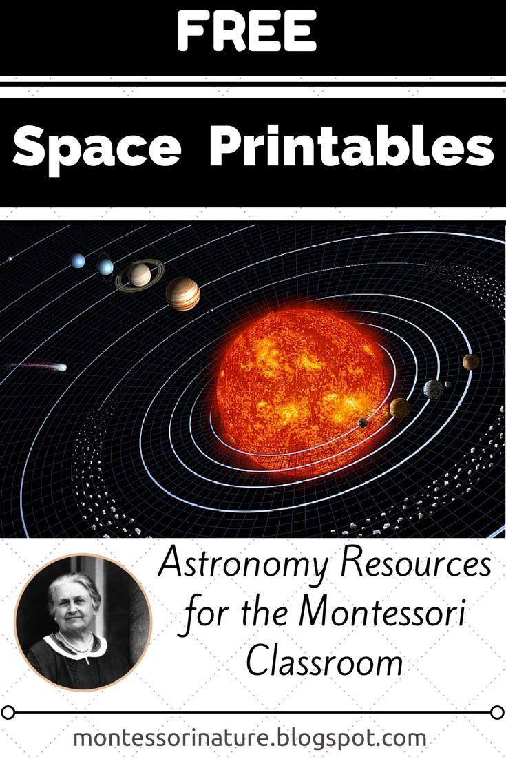 Free Space Printables Astronomy Resources For The Montessori Classroom Montessori Science Montessori Classroom Space Printables [ 1102 x 735 Pixel ]