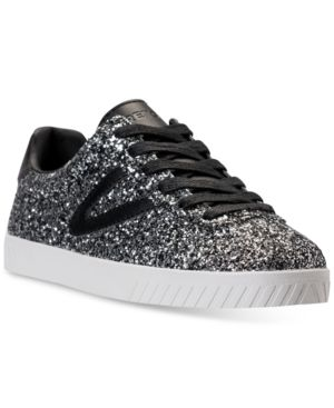 TRETORN WOMEN'S CAMDEN 5 GLITTER CASUAL SNEAKERS FROM FINISH LINE. #tretorn #shoes #