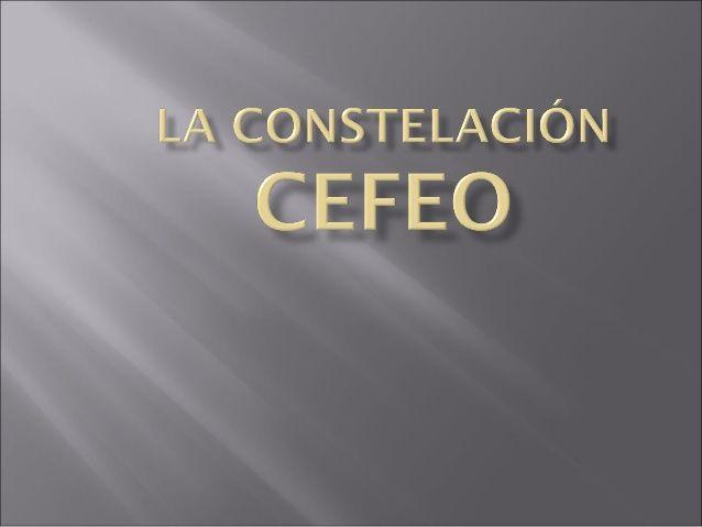 La Constelación Cefeo. Francisco Javier Jiménez Morillas.