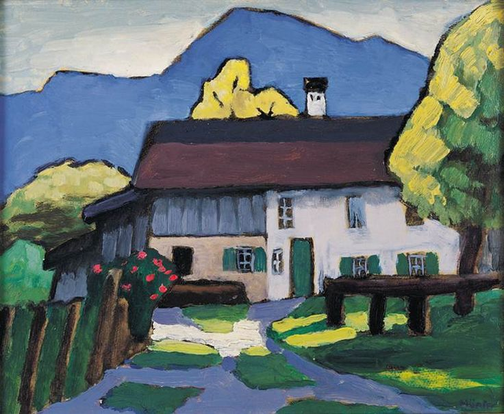 RL       Gabriele Münter - House in the Alps.