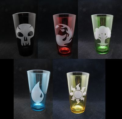 Magic: the Gathering Colored Drinking Glasses, $15 each!