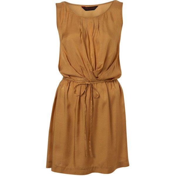Ochre Pintuck Dress ($42) ❤ liked on Polyvore featuring dresses, vestidos, платья, day dresses, smart dresses, women's dresses & skirts, pintucked dress, viscose dresses, rayon dress and miss selfridge dress