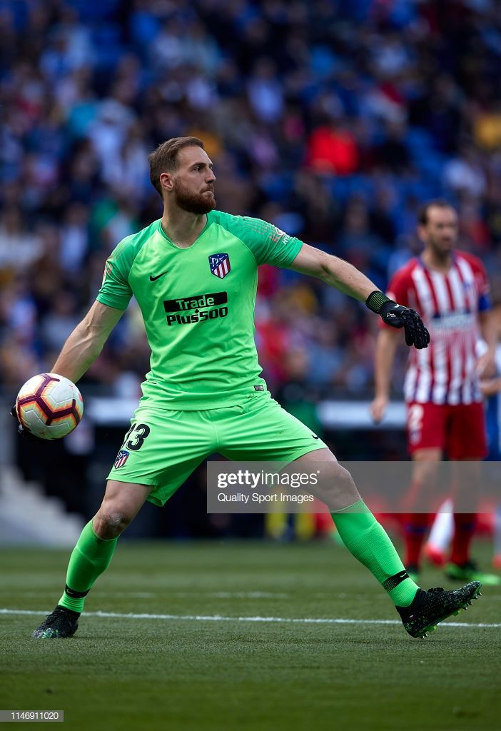 Jan Oblak Of Club Atletico De Madrid With The Ball During The La Liga Football Atlético De Madrid Goalkeeper