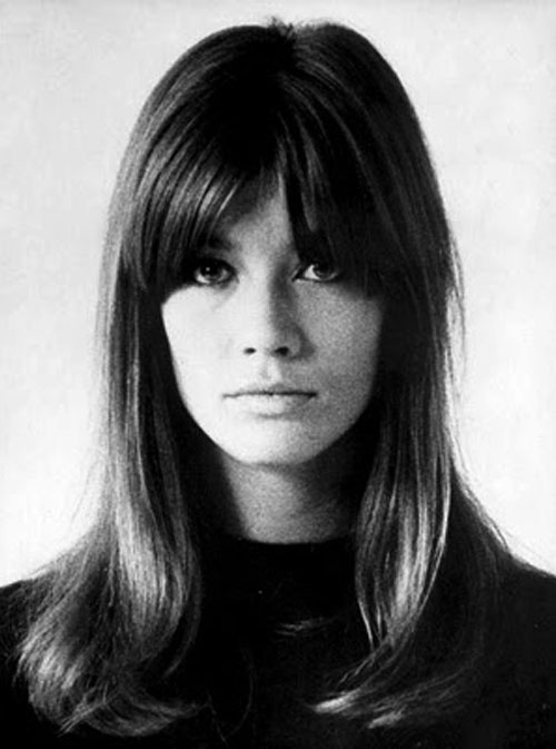 Francoise Hardy - what is it with the Frenchies and their fringes?