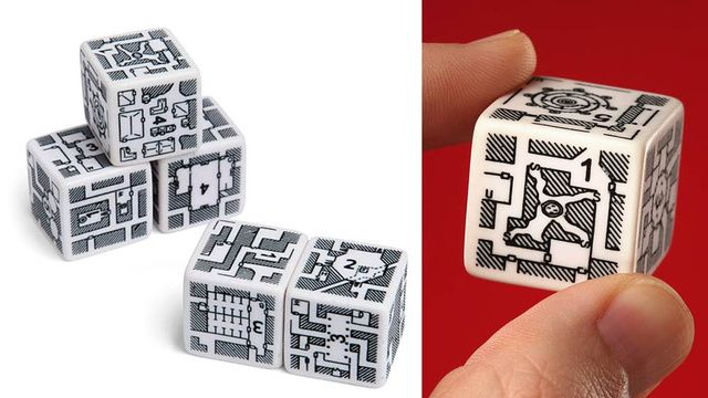 Dungeon Dice Let You Roll an Imaginary Adventure. Role-playing board games like Dungeons & Dragons are known for their overly complicated multi-sided die. But this particular set turns the dice into the actual dungeon, letting players discover a new random challenge every time they roll. All 30 sides of the five die have different dungeon layouts with entry and exit points that let them all connect into a larger layout when combined.
