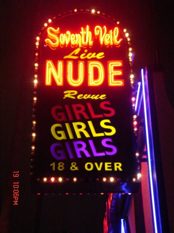 Seventh veil strip club sunset blvd Hollywood California ...