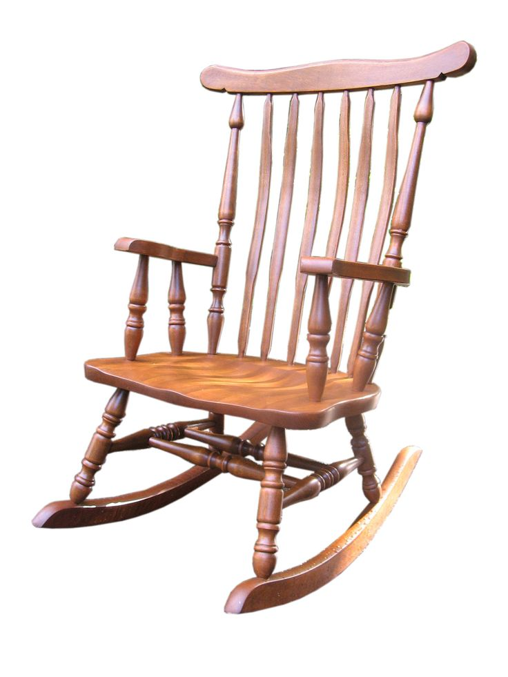 This rocker was a mess after someone attempted to strip it, gave up then applied paint. But look at the maple now