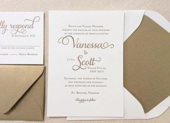 Traditional Elegant Wedding Invitations: The Garden Rose Suite, Classic Letterpress Wedding