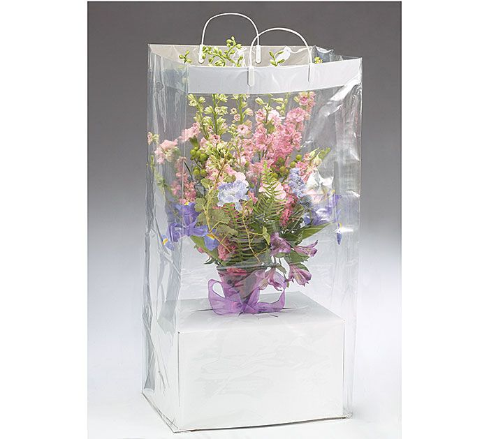 Easily transport arrangements with these Floral Arrangement Bags with handles! #burtonandburton