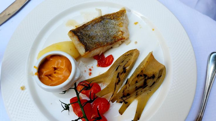 [I ate] Roast Pollock with grilled fennel and a lightly spiced mayonnaise