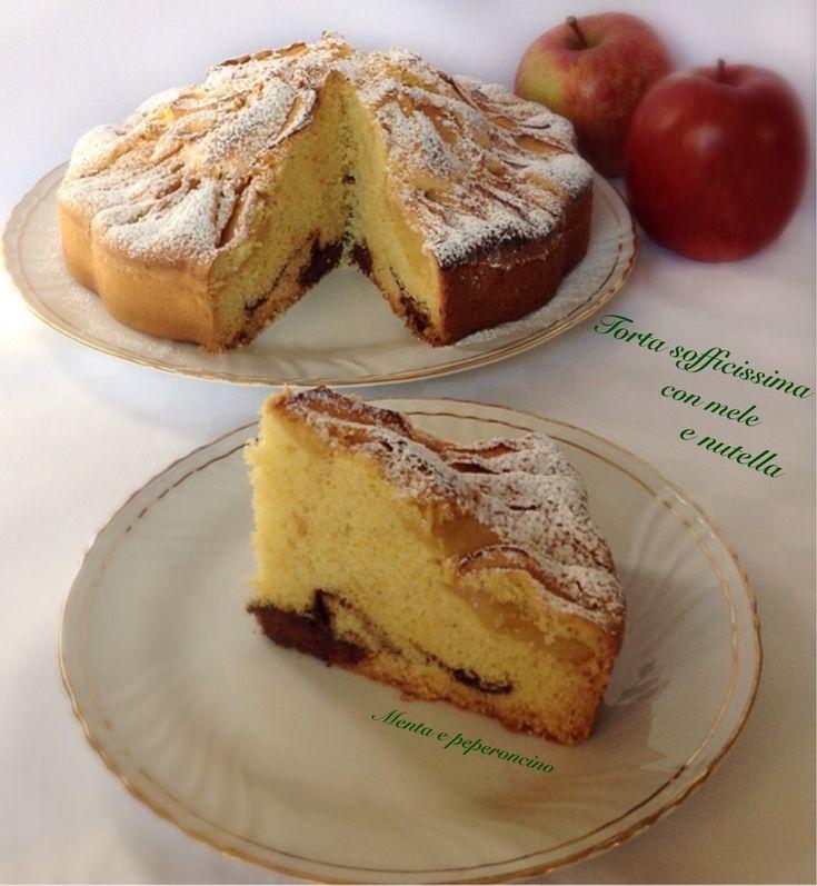 """Un dolce godurioso che piace proprio a tutti! Questa è la """"Torta sofficissima con mele e nutella"""", ottima da assaporare in qualsiasi momento della giornata."""