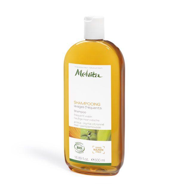 Shampooing lavages fréquents certifié bio sans sulfate taille éco