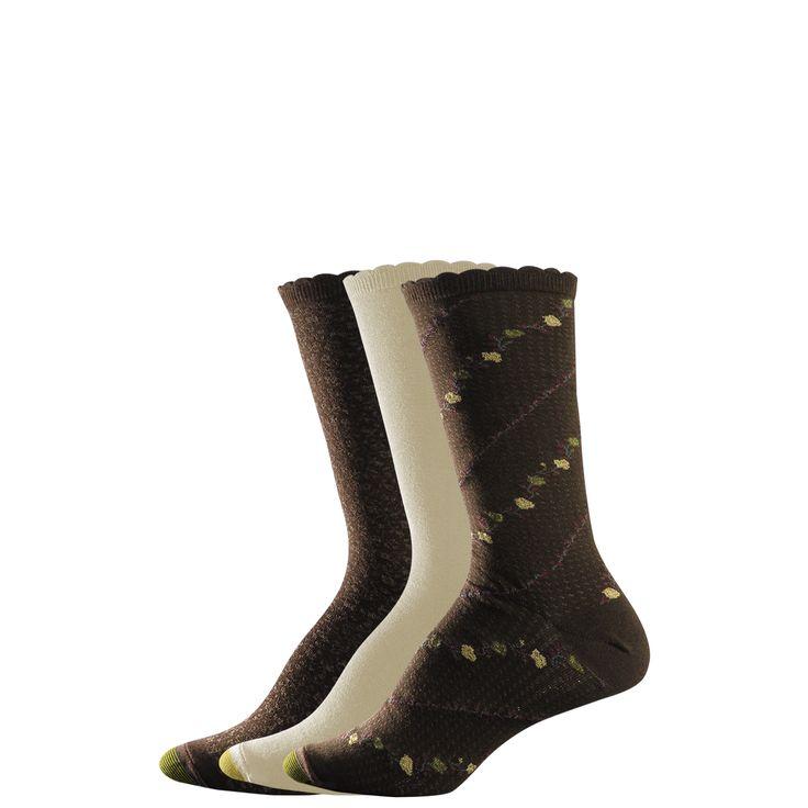 Gold toe socks Women's Extended Fashion - Brown/Khaki/Brown
