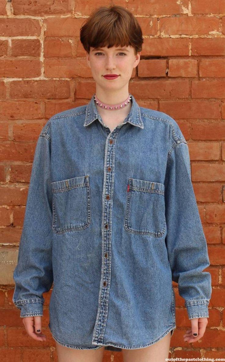 Levis Copper Button Vintage 1990s Denim Shirt