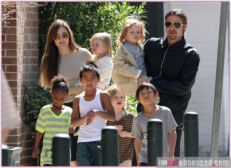 I picked Brad Pitt and Angelina Jolie's Family because it does not depict the typical family. Families a long time ago consisted of a working dad, stay at home mom, married first, and then had the perfect daughter and son combo.  Both Brad and Angelina are working parents. Also, three of the six children are not their biological children. Lastly, Brad and Angelina were not married when they started their family together. Family is definitely different now!