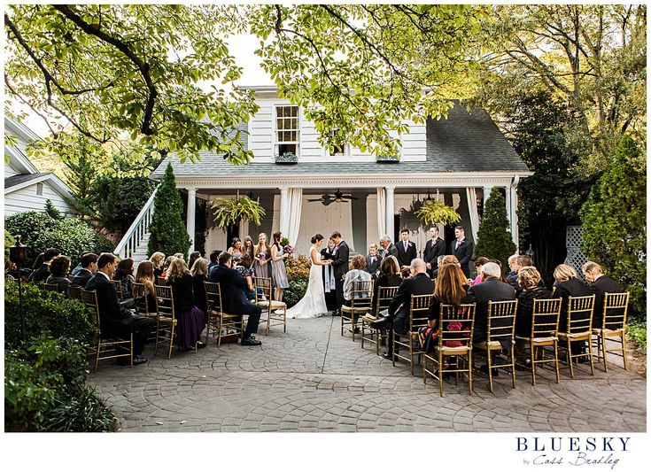 Outdoor wedding in Charlotte NC at Morehead Inn by www.cassbradleyweddings.com