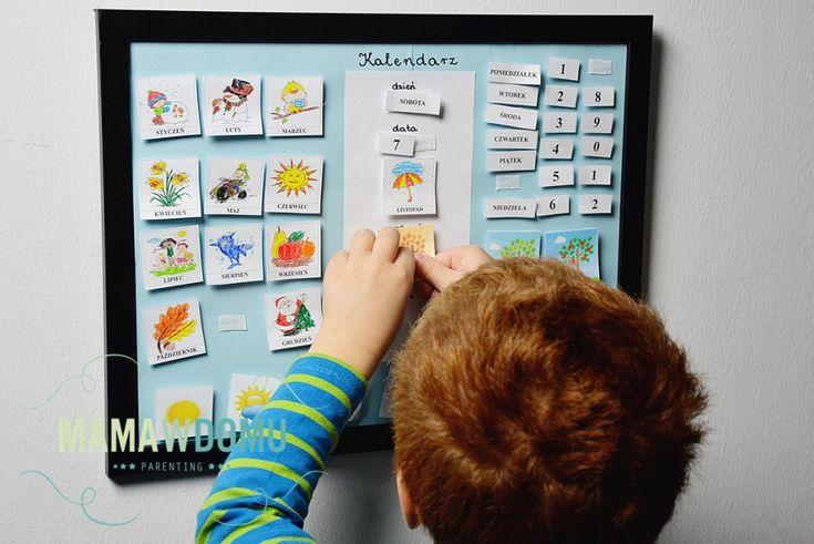 Kalendarz dla dzieci do nauki dni tygodni i miesięcy. #diy #craft #preschool