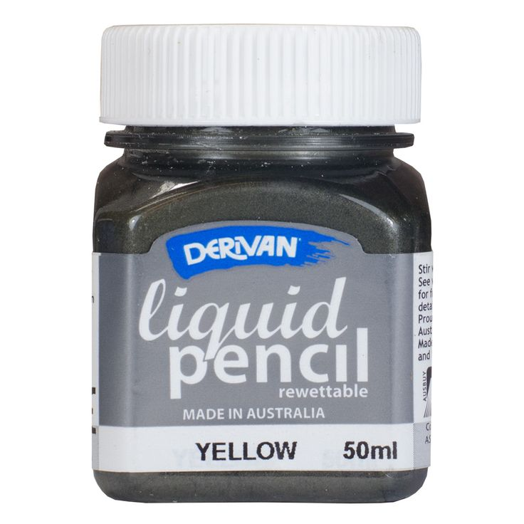 Derivan : Liquid Pencil 50ml Jar : REWETTABLE Yellow