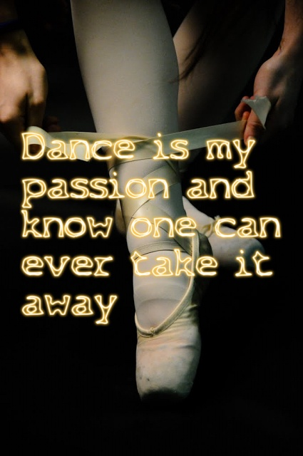"""lessons from my passion with dance The passion i feel for ballroom is such a dominating internal force, so it is mystifying when it isn't recognized externally as a dominant part of my life nowadays, my """"dance thing"""" involves so much more than just dance lessons, so it's easy to set people straight when they mistake my passion for anything less than what it is."""